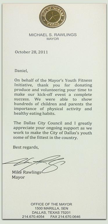 Dallas Mayro Letter to Daniel Castellon